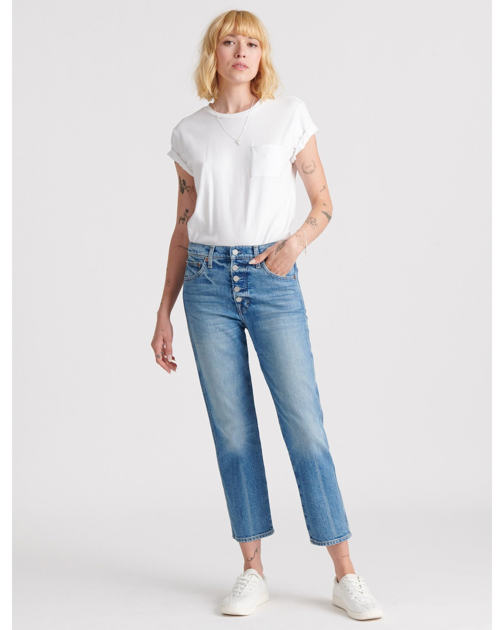 Mid Rise Authentic Straight Jean