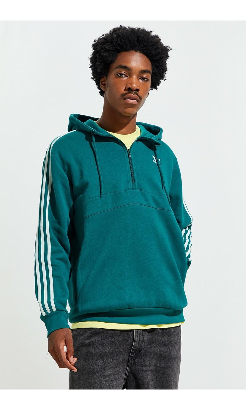 adidas 3-Stripes Half-Zip Hoodie Sweatshirt