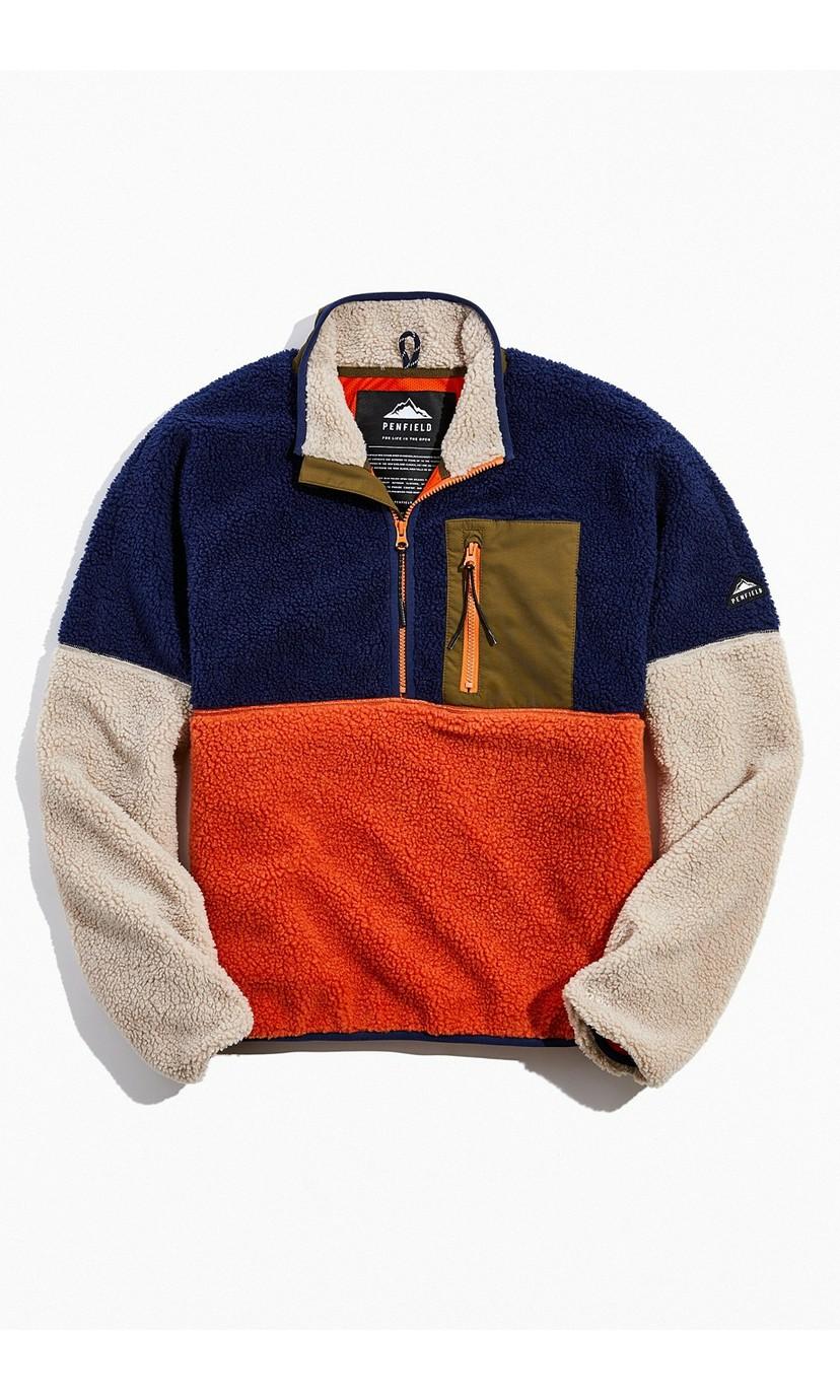 Penfield Medford Colorblock Half-Zip Fleece Jacket